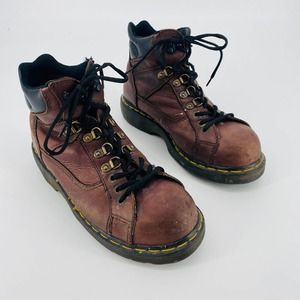 Dr. Martens High Top Round Toe Brown Lace Up Boots